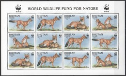 PK174 BHUTAN FAUNA ANIMALS WWF DHOLE 1SH MNH - W.W.F.