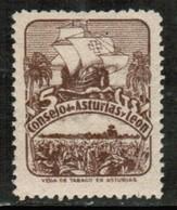 SPAIN  Scott # UNLISTED ASTURIAS & LEON LOCAL ISSUE VF MINT NH (Stamp Scan # 634) - España
