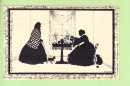 Otte Nichlass - SILHOUETTES - L' Heure Du Thé Au Petit Salon Avec Chien Et Chat - TEA TIME - 2 Scans - Silhouette - Scissor-type