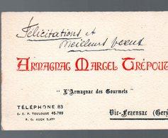 Vic-Fezensac (32 Gers) Carte Professionnelle ARMAGNAC MARCEL TREPOUX (PPP22829) - Advertising