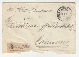 Italy Letter Cover Posted Registered 1927 Gradisca D'Isonzo To Cormons B200501 - 1900-44 Vittorio Emanuele III