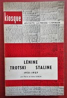 Pierre Et Irène Sorlin - Lénine, Trotski, Staline - Armand Colin - Collection Kiosque N°17 - Geschiedenis