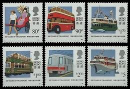 Hongkong 1991 - Mi-Nr. 615-620 ** - MNH - Transport - Hong Kong (...-1997)