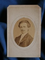 Photo CDV Alphonse Plumier à Liège - Portrait En Médaillon Homme, Circa 1865 L500 - Photos