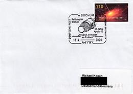 Germany 2020: Space, Satelite, Postmark, Used Cover - Europe