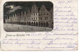 Allemagne  GRUSS Aus MÜNSTER De 1898 - Münster