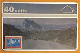 GIBRALTAR 40U N° 101K TARJETA CARTE HOLOGRAPHIQUE TELECARTE PHONECARD - Gibraltar
