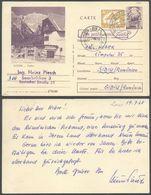 Romania - Reply Stationery Card, MiNr. P 535 'Carte Postale - Réponse Payée'. Saarbrücken 19.7.1968 - Sibiu. - Ganzsachen