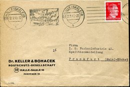54236 Germany Reich, Cover Circuled 1945 Halle, Jugend Auf Meer. Youth At Sea, - Germania