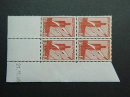 Maroc Poste Aérienne PA 44 Coin Daté 21.11.40 - Posta Aerea