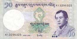 BILLETE DE BHUTAN DE 10 NGULTRUM DEL AÑO 2006 EN CALIDAD EBC (XF) (BANKNOTE) - Bhutan