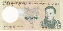 BILLETE DE BHUTAN DE 20 NGULTRUM DEL AÑO 2006 EN CALIDAD EBC (XF) (BANKNOTE) - Bhutan