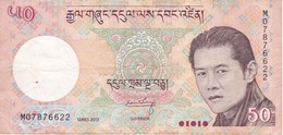BILLETE DE BHUTAN DE 50 NGULTRUM DEL AÑO 2013 (BANKNOTE) - Bhutan