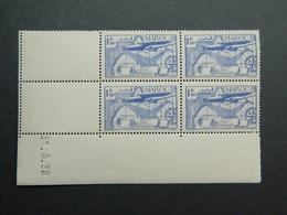 Maroc Poste Aérienne Yvert PA 45 Coin Daté 31.3.39 - Aéreo