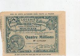 Loteries   Locales              '  Au Profit D'Oeuvres Municipales De La Villes De ROUBAIX ' - Lottery Tickets