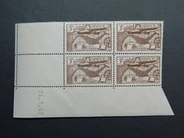 Maroc Poste Aérienne Yvert PA 47 Coin Daté 24.1.40 - Posta Aerea