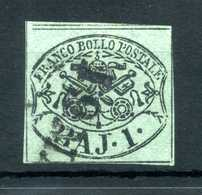 1852 STATO PONTIFICIO 1° Em. 1 Baj USATO N.2 - Stato Pontificio