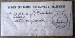 Lettre Du Service Des Postes, Télégraphes Et Téléphones 9/2/1960 - Lettres Civiles En Franchise