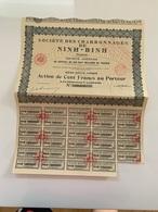 ACTION Indochine Société Des Charbonnages De Ninh Binh Paris 07/09/1926TB - Mines