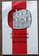Petit Calendrier De La Caisse D'Epargne D'Auch (Gers) 1957 - Calendriers