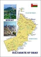 Sultanate Of Oman Country Map New Postcard Landkarte AK - Oman