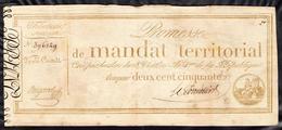 Mandat Territorial 250fr. - Assignats