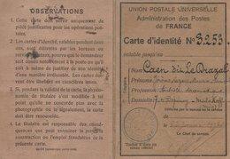 Carte D'identité Union Postale Universelle - Cartes