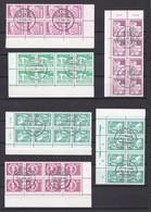 DDR - 1980/90 - Freimarken : Aufbau In Der DDR - Eckrandachterblock - Sammlung - Gest. - Used Stamps