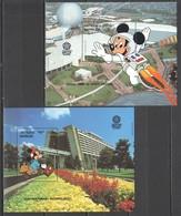 G842 ANTIGUA & BARBUDA DISNEY WORLD EPCOT CENTER 2BL MNH - Disney
