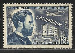 FRANCE , FRENCH , 18 F , Inventeur Célèbre , Sainte Claire Deville , Aluminium , 1955 , N° YT  1015 ( O ) - France