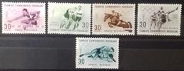 TURQUIE TURKEY N° 1562 à 1566 COTE 3,75 € 1960 NEUFS ** MNH JEUX OLYMPIQUES DE ROME - Neufs