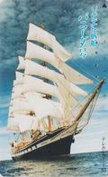 Télécarte Japon / 110-007 - BATEAU VOILIER Caravelle ** BARRADA ** URSS Russia  Rel SAILING SHIP Japan Phonecard - 424 - Boats