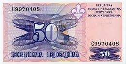 BOSNIE HERZEGOVINE - BOS-50DIN-1995 / P 47 - NEUF/UNC - COTE IPCbanknotes: 20,00€ -  #0041 - Bosnia Y Herzegovina
