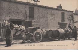 ILE DE RE : SAINT MARTIN - Attelage A Quatre Roues Pour Le Transport Du Vin Vers 1910 - Très Bon état - Frankreich