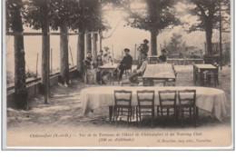 CHATEAUFORT : Vue De La Terrasse De L'Hôtel De Châteaufort Et Du Touring Club - Très Bon état - France