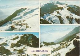 LES BRASSES   -  4 VUES De LA STATION  -   Editeur :Robert PELLET De Viuz En Sallaz  N° / - Frankreich
