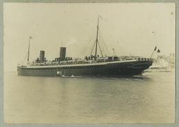 """Tirage Argentique Circa 1910. Le Havre (Normandie). """" La Savoie """". Bateau. Transatlantique. Paquebot Postal. - Bateaux"""
