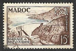 MAROC  1954  -  YT 329 - Barrage - Oblitéré - Used Stamps