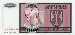 BOSNIE HERZEGOVINE - BOSS-10000000000DIN-1993 / P 148 - O°/TTB - COTE IPCbanknotes: 4,00€ -  -  #0042 - Bosnia Y Herzegovina