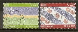 Pays-Bas Netherlands 2002 Drapeaux De Provinces Provincial Flags Obl - Gebruikt