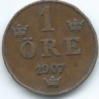 Sweden - 1907 - Oscar II - 1 Öre - KM768 - Sweden