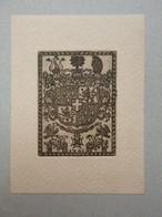Ex-libris Illustré Début XXème Réimpression D'un Ex-libris XVIIIème - LEININGEN-DAGSBURG-HARTENBURG - Ex Libris