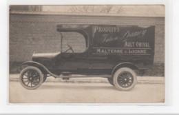 AULT ONIVAL : Carte Photo D'un Camion De Livraison De La Maison Julien DAMOY (MALTERRE Et LIONNE)  - Très Bon état - Ault