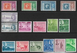 MAURITIUS 1948 - 1950 MOUNTED MINT COLLECTION INCLUDING SETS Cat £11+ - Mauritius (...-1967)