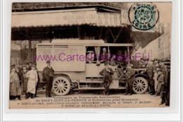 ROANNE : L'autobus De La Compagnie Des Transports Automobiles En 1907 - Très Bon état (coupée Légèrement De Travers) - Roanne