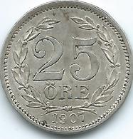 Sweden - 1907 - Oscar II - 25 Öre - KM775 - Sweden