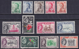 FIJI 1959-63, Mi# 141-153, CV €40, Flowers, Birds, Used - Fiji (...-1970)