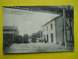 Libourne ,nouvelle Gare Tramways ,+ Cachet Cie Des Tramways Du Libournais - Libourne
