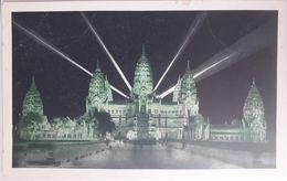 Exposition Coloniale Internationale De Paris 1931 Angkor Vat Wat Vue De Nuit - Exhibitions