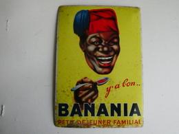 Ancienne Plaque Publicitaire Métal BANANIA - Blechschilder (ab 1960)